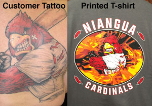 Tattoos to T-shirts