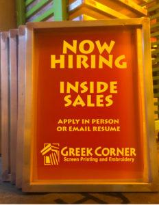 Now Hiring – Inside Sales Rep